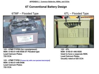 6T  Conventional Battery  Design
