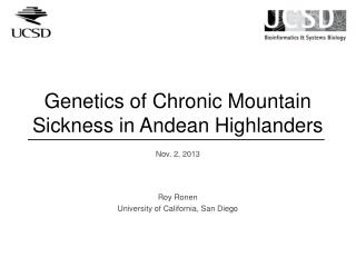 Genetics of Chronic Mountain Sickness in Andean Highlanders