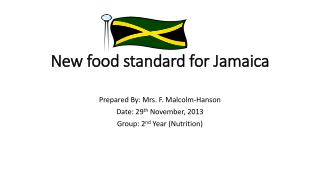 New food standard for Jamaica