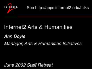 Internet2 Arts & Humanities