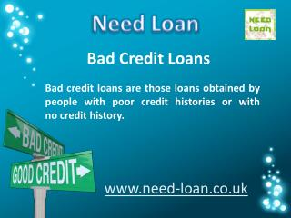 Need Bad Credit Loans at Low Interest Rate