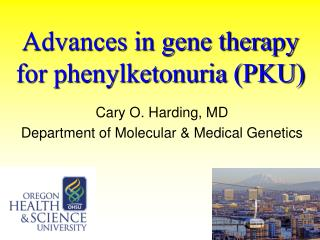 Advances in gene therapy for phenylketonuria (PKU)