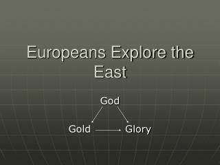 Europeans Explore the East