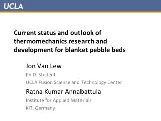 Current status and outlook of thermomechanics research and development for blanket pebble beds