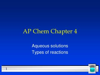 AP  Chem  Chapter  4