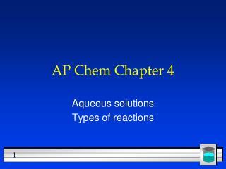 AP Chem Chapter 4