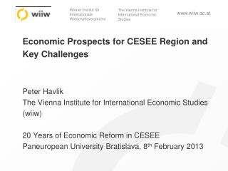 External environment and impacts on CESEE
