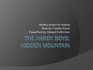 The Hardy Boys: hidden mountain