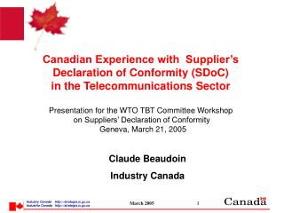 Claude Beaudoin Industry Canada