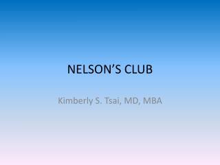 NELSON'S CLUB