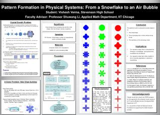 Pattern Formation in Physical Systems: From a Snowflake to an Air Bubble