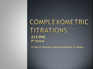 Complexometric  Titrations (1)