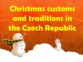 Christmas customs and traditions in the Czech Republic