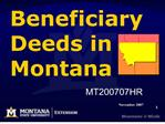 Beneficiary  Deeds in Montana