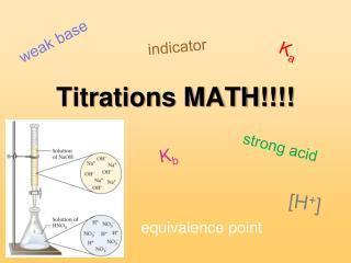Titrations MATH!!!!