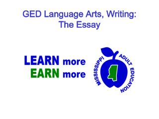 GED Language Arts, Writing:  The Essay