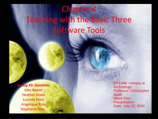 Chapter 4 Teaching with the Basic Three Software Tools