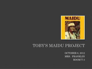 TOBY'S MAIDU PROJECT