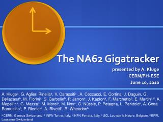 The NA62  Gigatracker