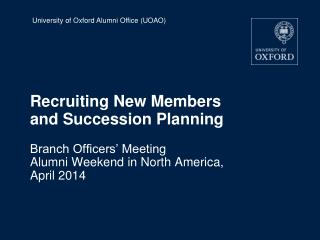 Recruiting New Members and Succession Planning
