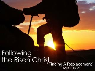 """Encounter With the Risen Christ"""