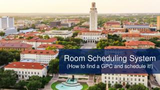 COURSE SCHEDULING OVERVIEW