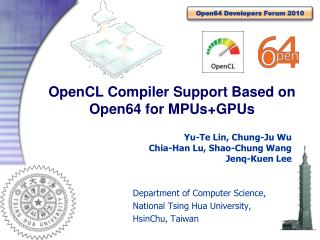 OpenCL Compiler Support Based on Open64 for  MPUs+GPUs