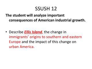 SSUSH 12