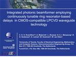 Integrated photonic beamformer employing  continuously tunable ring resonator-based delays  in CMOS-compatible LPCVD wav