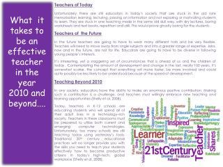 Teachers of Today