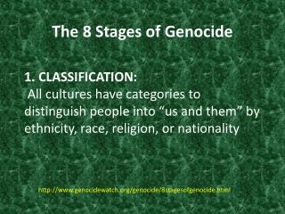 The 8 Stages of Genocide