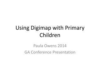Using Digimap with Primary Children