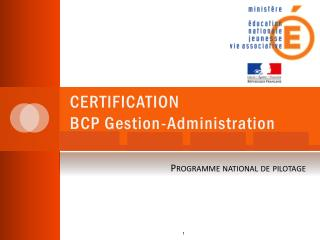 CERTIFICATION  BCP Gestion-Administration