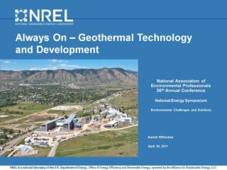 Always On – Geothermal Technology and Development