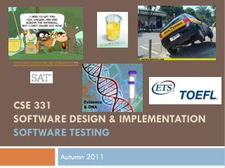 CSE 331 Software Design & Implementation software Testing