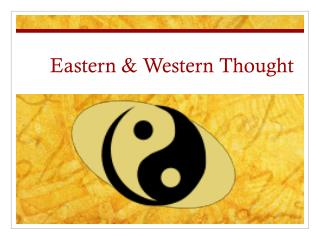 Eastern & Western Thought