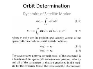 Orbit Determination