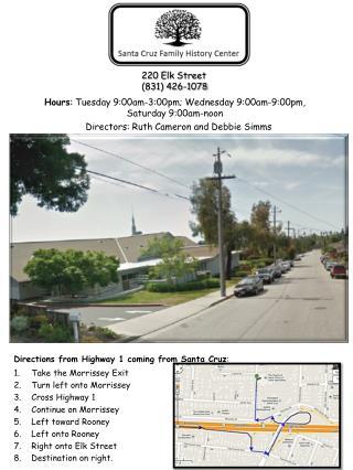 220 Elk Street (831) 426-1078