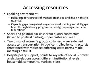 Accessing resources