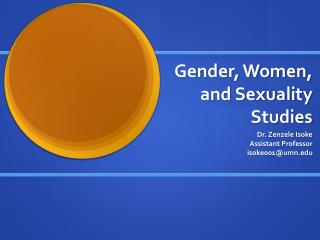 Gender, Women, and Sexuality Studies