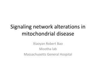 Signaling network alterations in mitochondrial disease