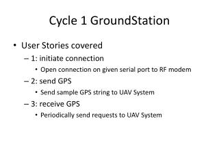 Cycle 1  GroundStation