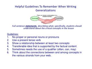 Helpful Guidelines To Remember When Writing Generalizations