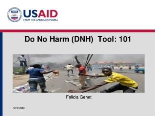 Do No  Harm (DNH)  Tool:  101