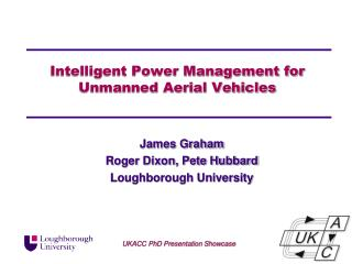 Intelligent Power Management for Unmanned  Aerial Vehicles