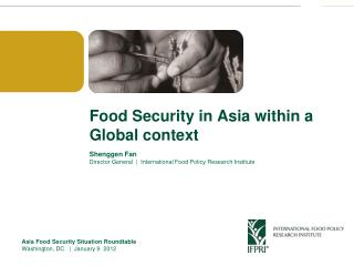 Food Security in Asia within a Global context