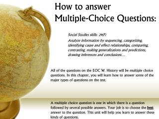 How to answer  Multiple-Choice Questions:
