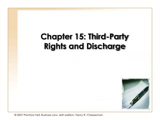 Chapter 15: Third-Party Rights and Discharge