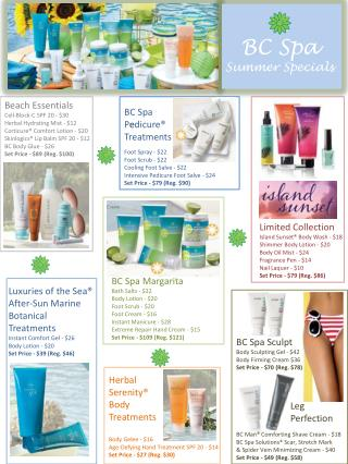 BC Spa Summer Specials