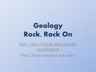 Geology Rock, Rock On
